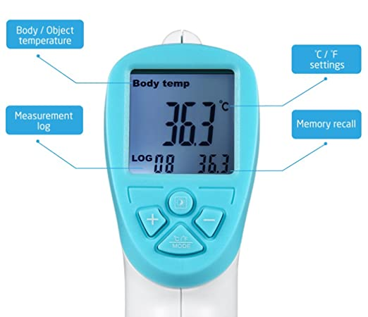 Amazon.com: AVANTEK Non-Contact Forehead Thermometer Infrared Digital Temperature Measurement Gun for Baby: Health & Personal Care