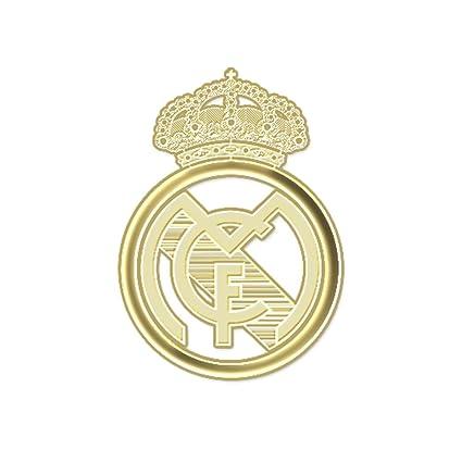 24 K chapado en oro Real Madrid Emblema Adhesivo de teléfono celular