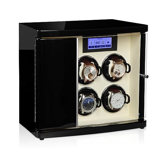 Timeless MODALO MV3 Caja para Guardar Relojes con 4 Espacios de Movimiento automático y 2 estantes Color Negro y Beige 3004123: Amazon.es: Relojes