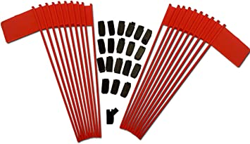 Red Plastic 11 inch 2x3 Desk Flag with Flag Up Flag Down Flip Clip Notification Status Alert Office 1 Pack