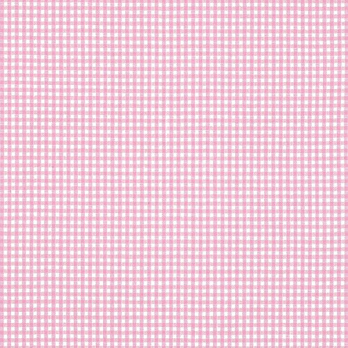 Gingham Pink Fabric (1/16