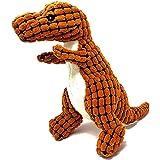 恐竜 おもちゃ ペット 犬 猫 ぬいぐるみおもちゃ 鳴き笛 音出る Imikoko 玩具 可愛い ストレス解消 歯ぎ清潔 クリーニング用品 ネコ 小型犬 中型犬遊び用 (恐竜 オレンジ)