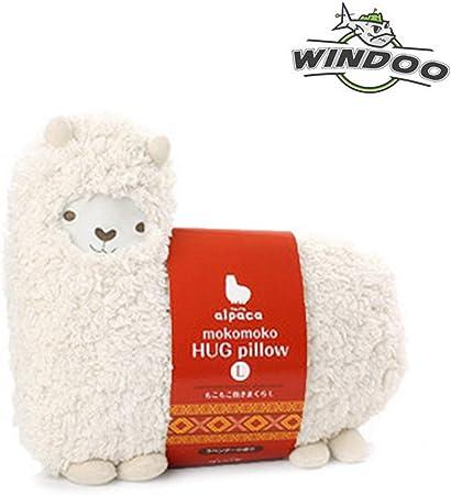 Amazon Com Savyou White Color Aunt Merry Mokomoko Llama Alpaca Hug Pillow Cushion Doll By Zzz Toys Games
