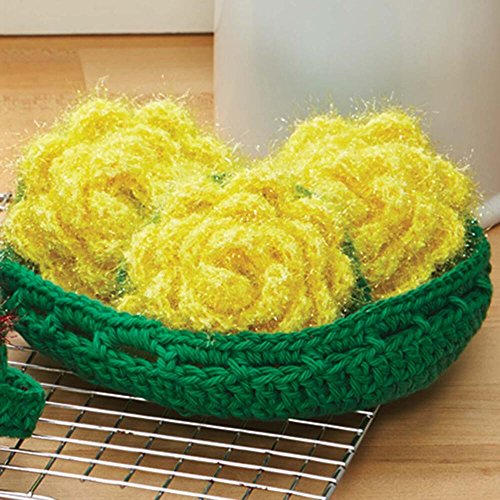 Herrschners® Bouquet of Roses Scrubbies Crochet Yarn Kit by Herrschners®