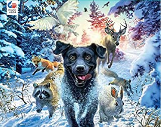 product image for Mark Fredrickson - Black Lab Puzzle - 550 Pieces