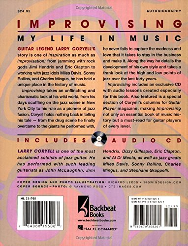 Improvising: My Life in Music (Includes Audio CD) by Backbeat Books