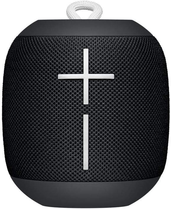 Ultimate Ears Wonderboom Altavoz Portátil Inalámbrico Bluetooth, Sonido Envolvente de 360°, Impermeable, Conexión de 2 Altavoces para Sonido Potente, Batería de 10 h, Negro (Exclusive)