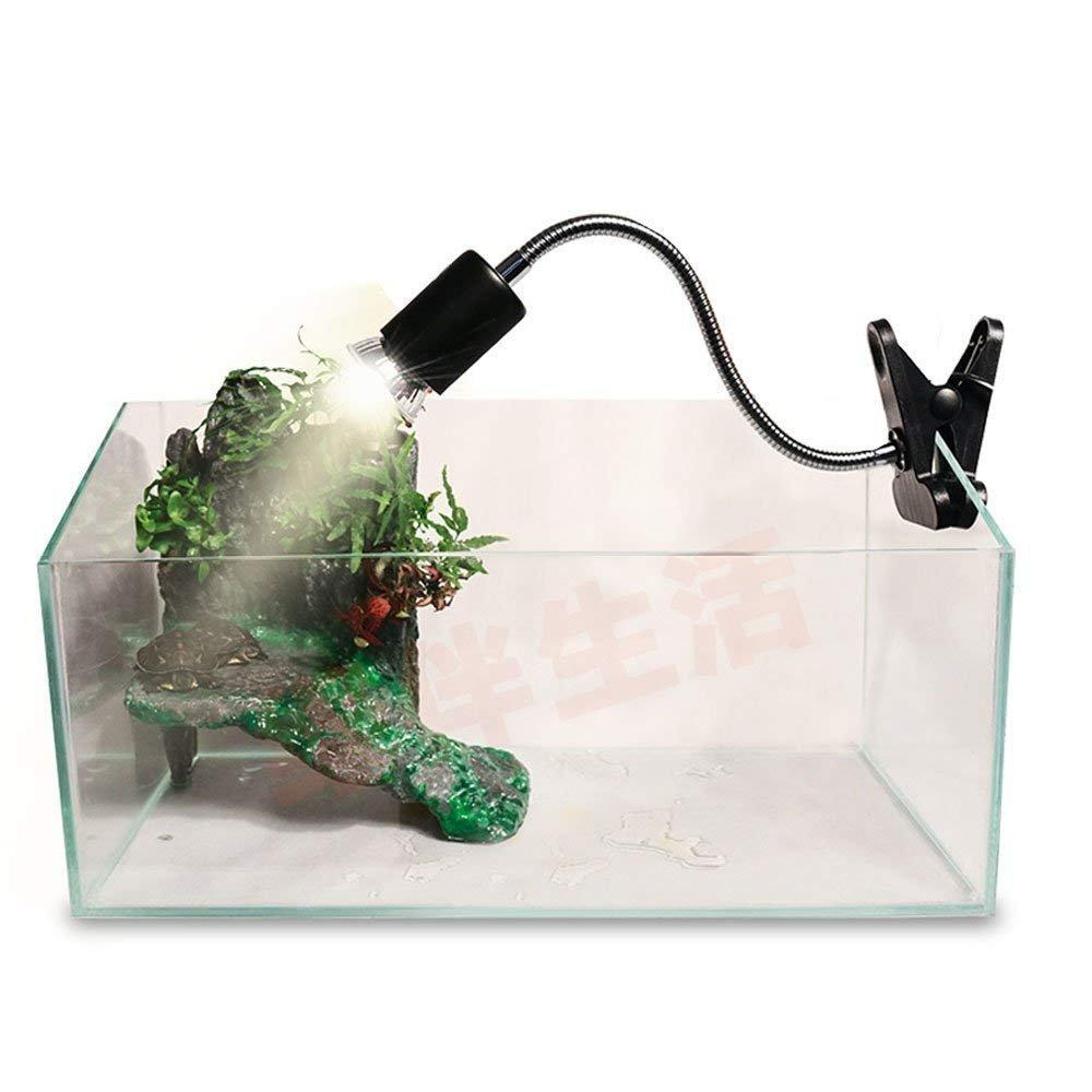Flexible Clamp Lamp Fixture for Reptiles. Terrarium Habitat Lighting & Heat Lamp Holder Stand,UVA UVB Light Bulb Reptile Ceramic Heat Lamp Pet Heating Bulb Holder,Clamp Lamp Fixture Adjustable (Black)