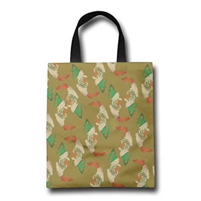 Big Distressed Mexico Flag Funny Mens Reusable Shopping Bags Funny Market Bag