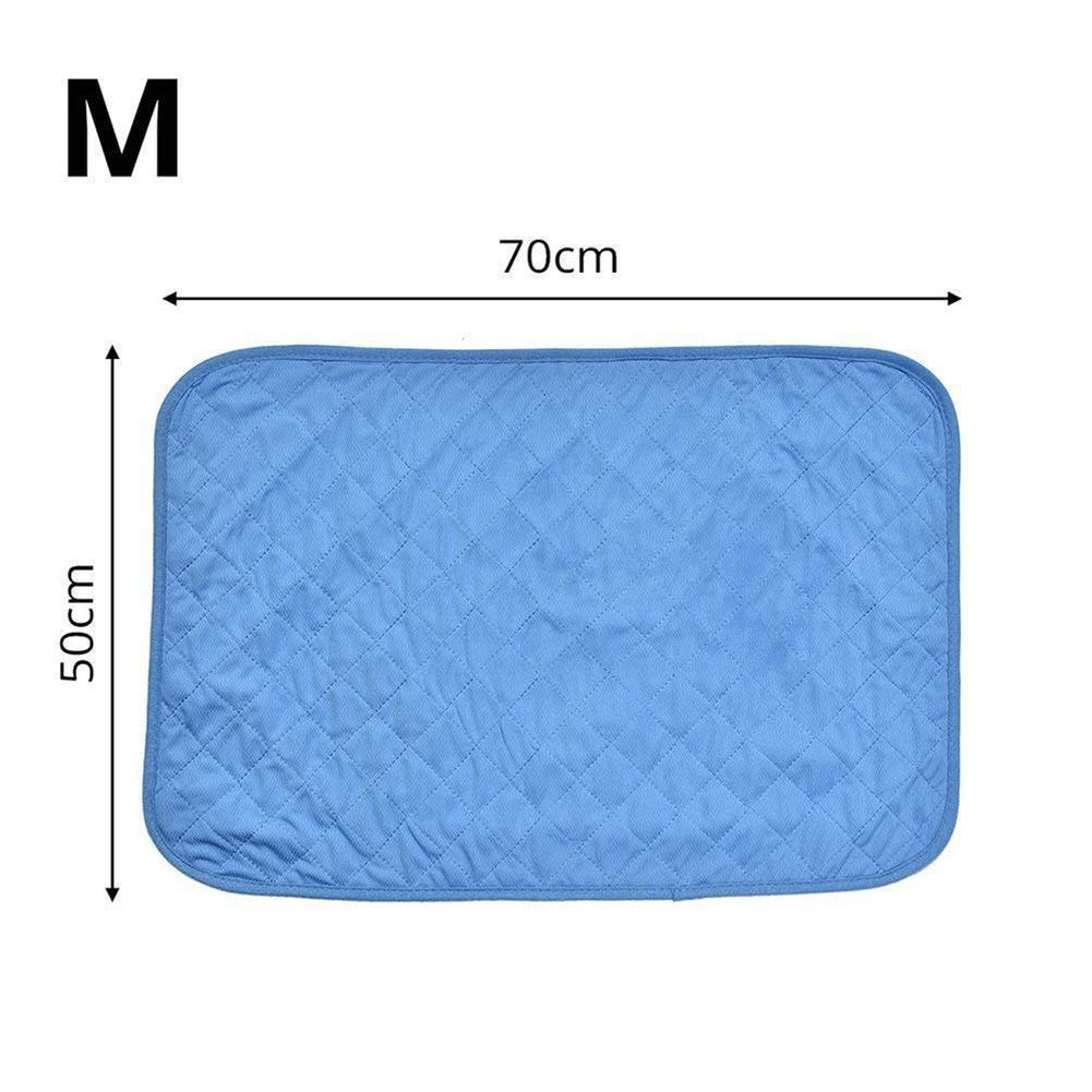 bluee M 50x70 Kennel Pads Dog Beds Cooling Dog Bed Self Cooling Pet Pad Comfortable Pet Cooling Mat Cool Pad Summer Sleeping Cooling Bed Cushion for Dog Cat Puppy Cat Bed Pet Supplies Cover (color   bluee M 50x70)