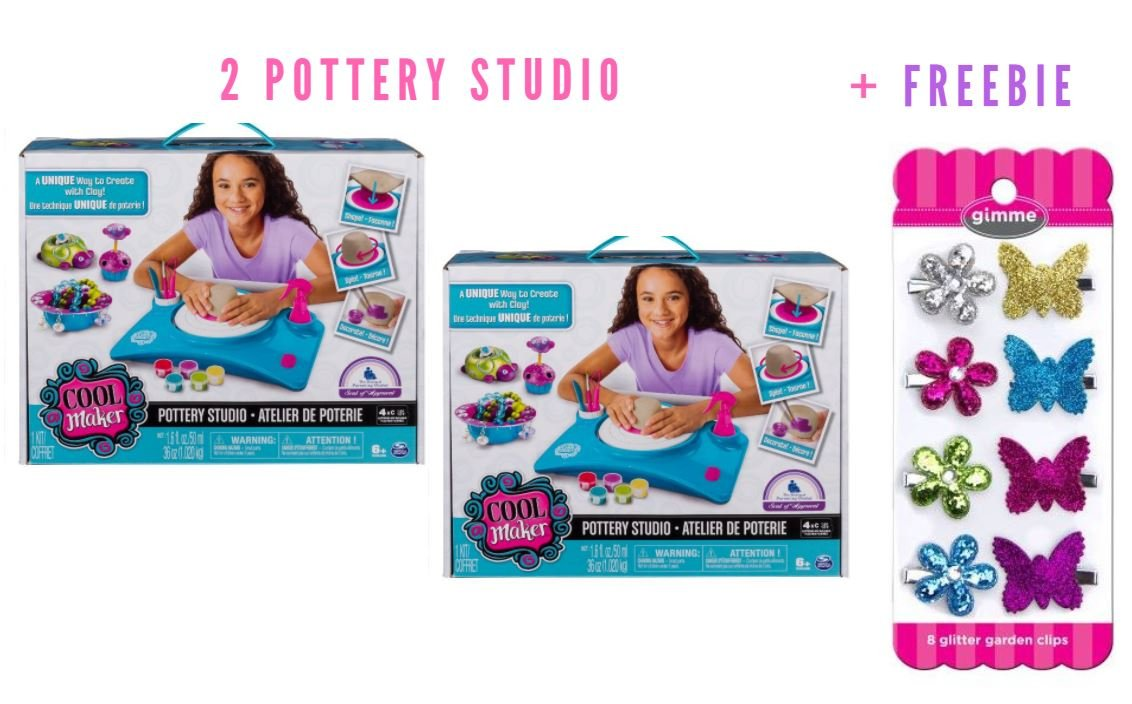 Cool Maker - Pottery Studio, by Spin Master (Packaging May Vary) (2 Pottery Studio + Freebie)
