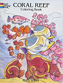 coral reef coloring book dover nature coloring book