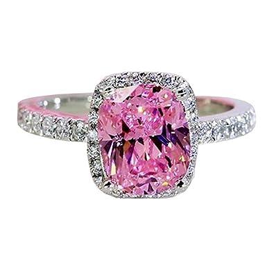 d3bca8658 Qiaoying Ring 18k White Gold Gp Pink Austria Swarovski Crystal Lady Bridal  Wedding Engagement (5
