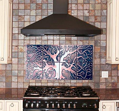 Amazon.com: kitchen backsplash, 8 copper tiles, SIZE 31 x16 ...