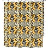 Uneekee Patchwork Safari Shower Curtain: Large Waterproof Luxurious Bathroom Design Woven Fabric