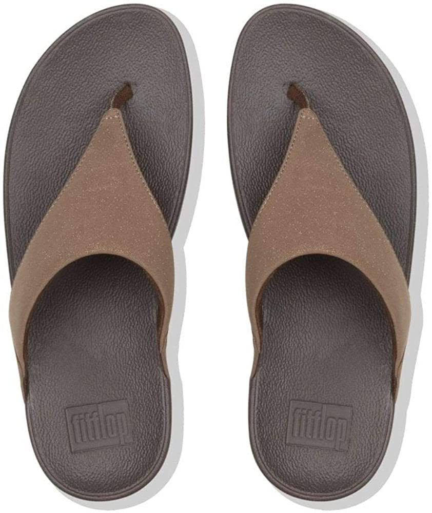 Fitflop Lulu Shimmerlux, Infradito Donna Bronzo