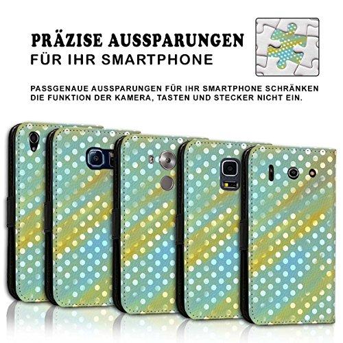 Wallet Book Style Flip Handy Tasche Case Schutz Hülle Schale Motiv Etui für Apple iPhone 4 / 4S - Design Flip MV230