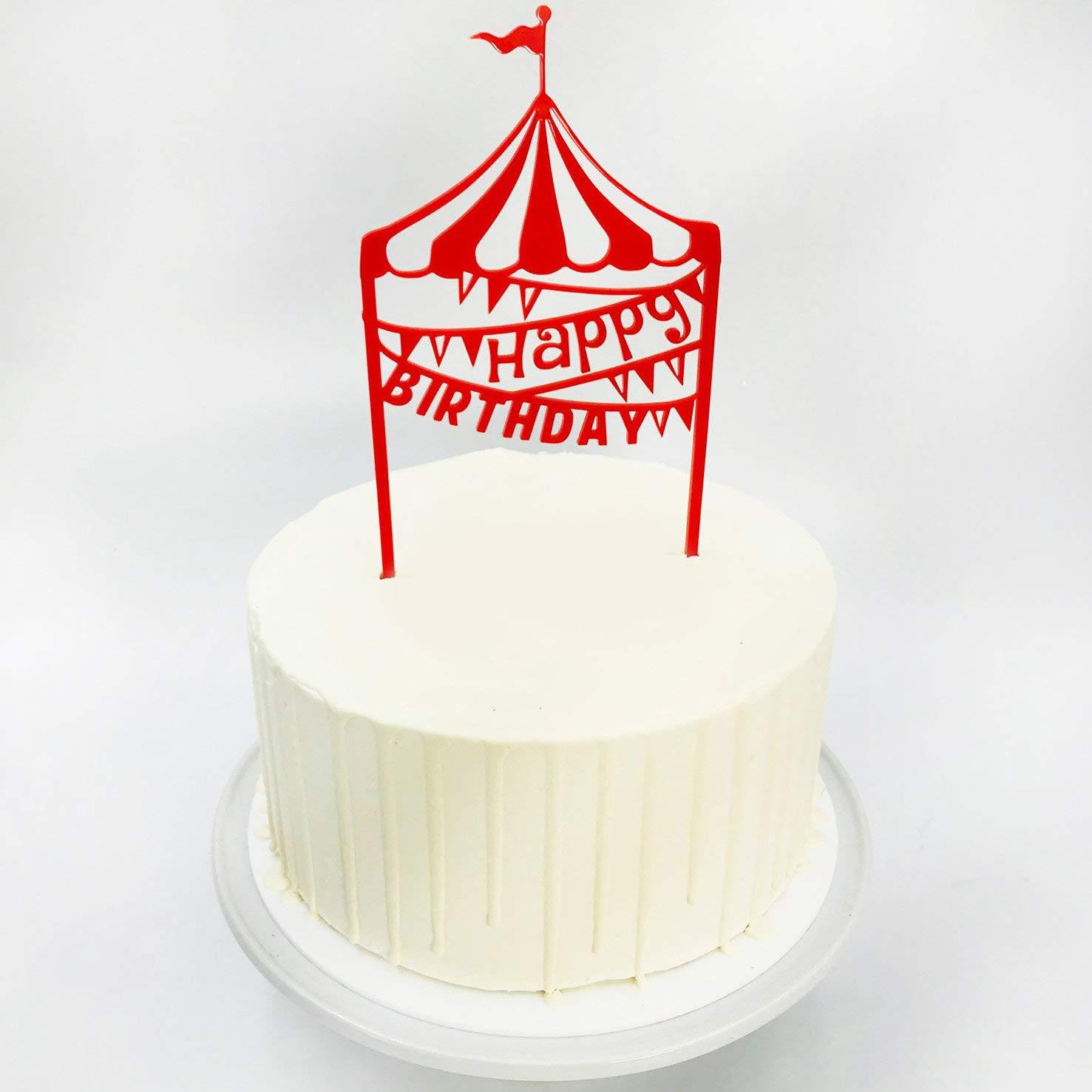 Strange Happy Birthday Circus Themed Cake Topper Amazon Co Uk Kitchen Home Funny Birthday Cards Online Elaedamsfinfo