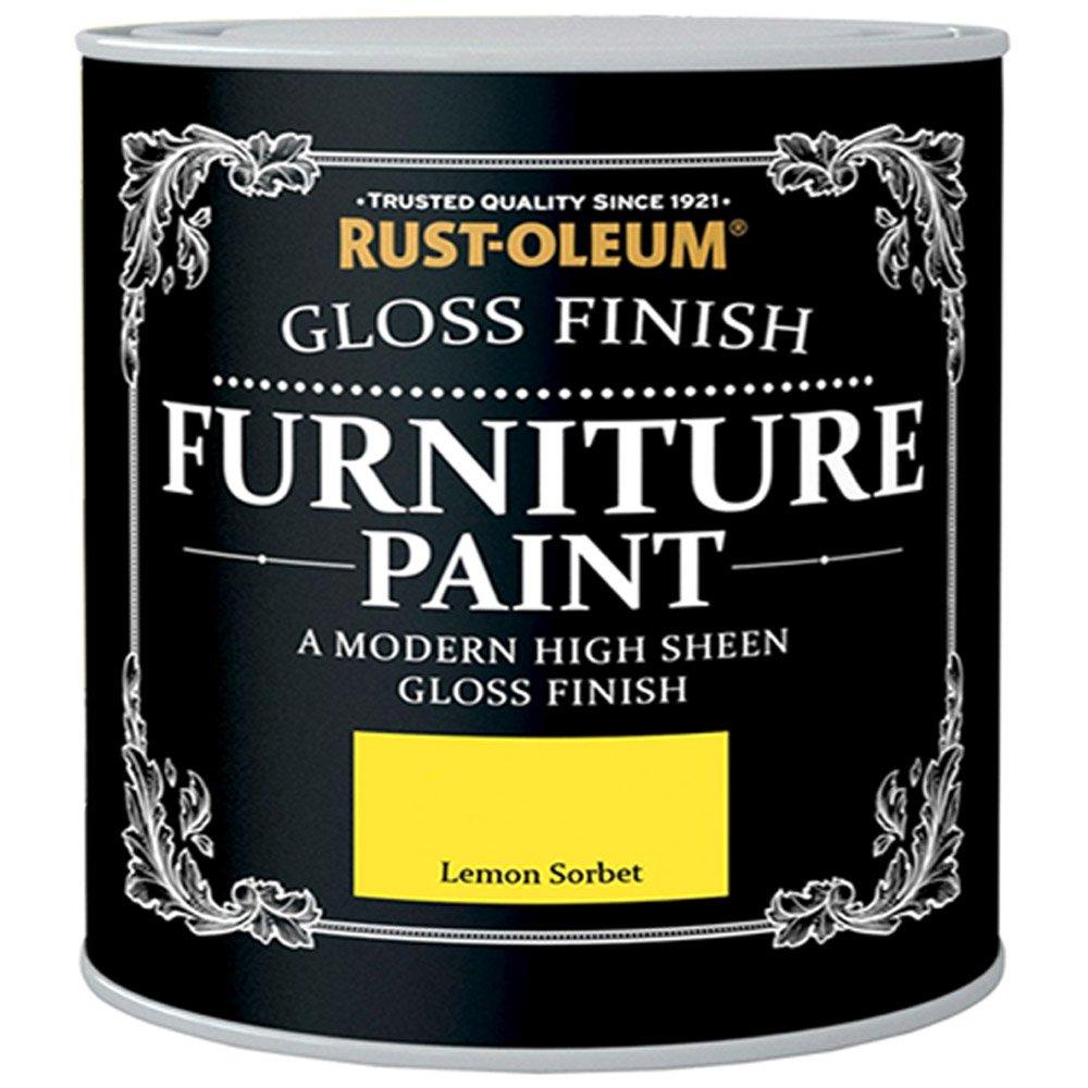Rust-Oleum Gloss Furniture Paint - Lemon Sorbet - 125ML