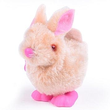 Amazon easter bunnysacow hopping wind up plush easter bunnysacow hopping wind up plush rabbit toys baby kids negle Images