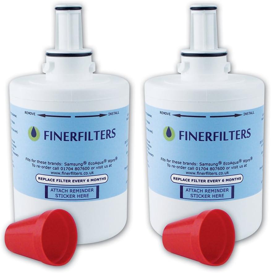 4 x Finerfilters Compatible Samsung DA29-00003G Fridge Water Filter Replacement