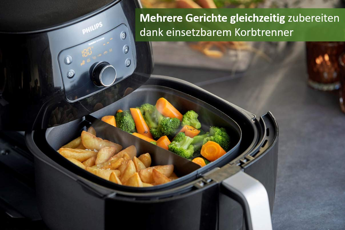 Philips hd9762/90 freidora de aire caliente, color negro