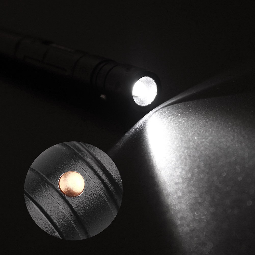 Tactical Pen ACRATO Kubotan Multifunktional Tactical Stift Military Pen mit Kugelschreiber Taschenlampe Glasbreche zur Selbstverteidigung Campingwerkzeug Militärwerkzeug Schwarz