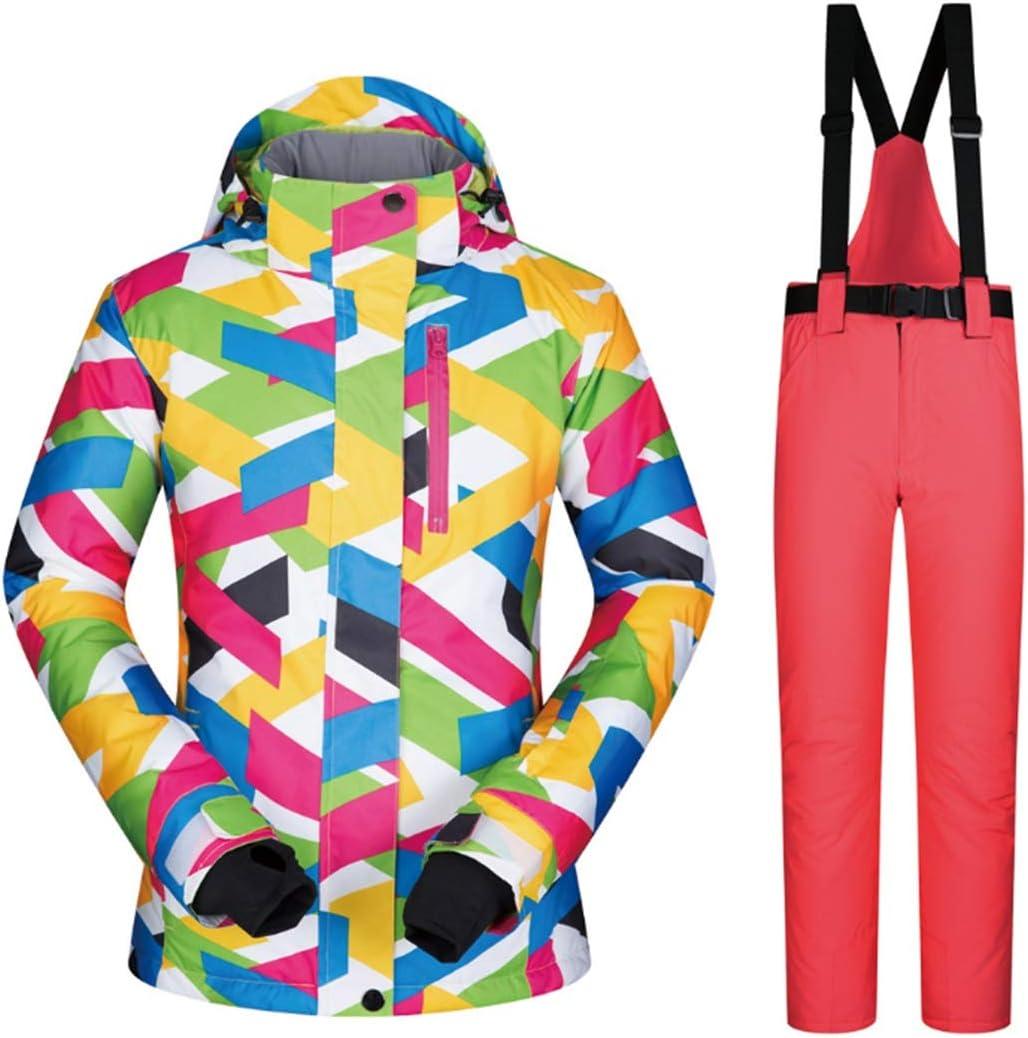 Sceliny 女性用スキージャケットとパンツスノースーツ、ゼロコート (色 : 08, サイズ : XL)  X-Large