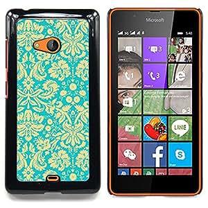 For Nokia Lumia 540 Case , Modelo amarillo del papel pintado retro - Diseño Patrón Teléfono Caso Cubierta Case Bumper Duro Protección Case Cover Funda