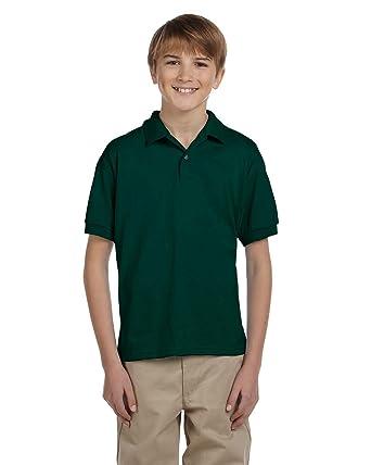 f203e2588 Gildan DryBlend Youth Comfort DryBlend Wicking Polo Shirt, Frst Green,  Medium