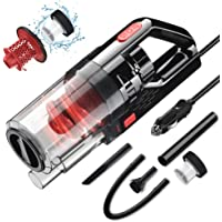 Sonru 150W High Power DC12V Corded Handheld Vacuum (Red)