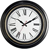 Bernhard Products Large Wall Clock 18'' Quality Quartz Silent Non Ticking, Battery Operated for Home/Living Room/Over Fireplace, Beautiful Decorative Timeless Stylish Clock (Extra Large - 18 Inch)