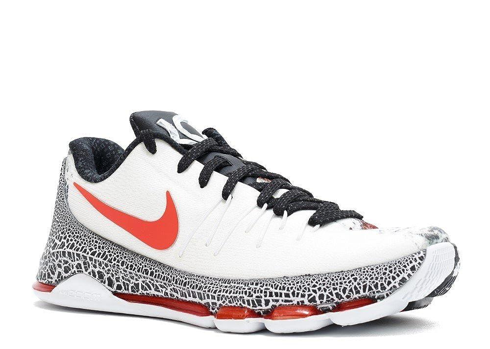 Weiß   Schwarz  Orange (Weiß   Schwarzbright Hochrot) Nike Herren Kd 8 Xmas Basketballschuhe