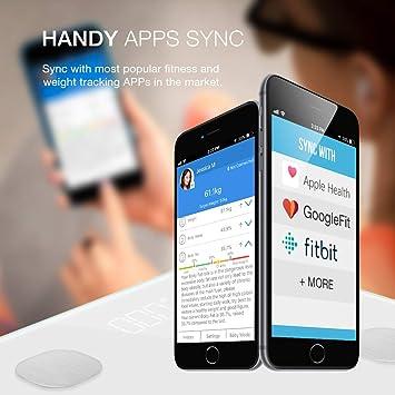 Báscula de Baño Digital, multifun Bluetooth Escala Inteligente de Grasa con App, con Análisis Corporal de Peso, Índice de Masa, Grasa, Agua, Músculo, ...