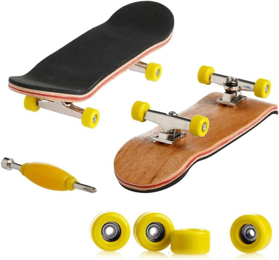 Egosy Mini Griffbrett Finger Skateboard Professionelle Mini Fingerboards Skatepark Spielzeug f/ür Kinder Spielen Oder ALS Finger Skateboard Dekoration