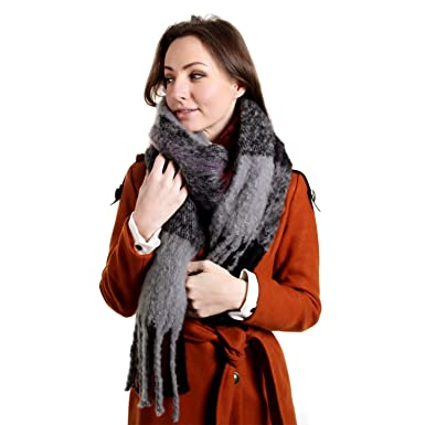 2007c0179 Womens Oversized Scarf - Big Tartan Blanket Ladies Shawl for Winter ...