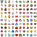 Different 100 Pcs PVC Shoe Charms for Crocs and Jibbitz Bands Bracelet Wristband