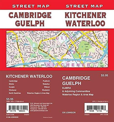 Kitchener / Waterloo / Cambridge / Guelph, Ontario Street Map (Waterloo Outlet)