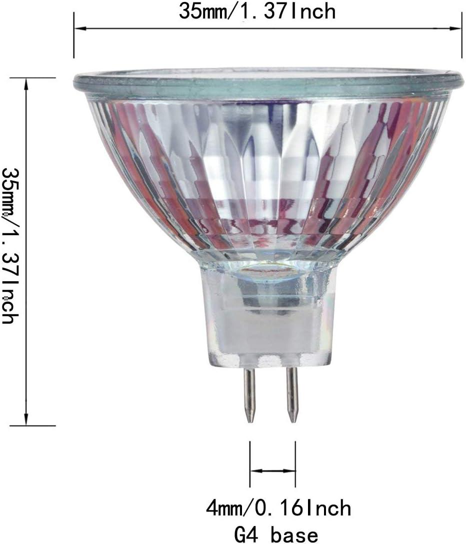 30 Degree Beam Spread Precision Halogen Reflector Fiber Optic Light Bulb 10W 12V,6 pack CTKcom Halogen Light Bulbs 6 pack - MR11 12Volt 10Watt Halogen Lamp