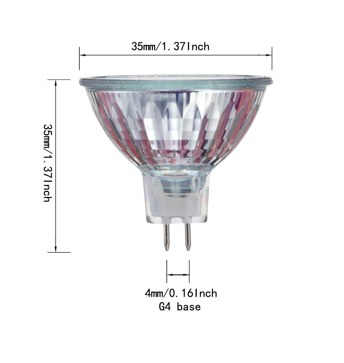 30 Degree Beam Spread Precision Halogen Reflector Fiber Optic Light Bulb 10W 12V,6 Pack - MR11 12Volt 10Watt Halogen Lamp 6 Pack CTKcom Halogen Light Bulbs