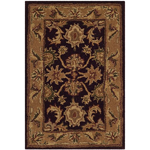 Safavieh Classic Collection CL244B Handmade Traditional Oriental Dark Plum and Gold Wool Area Rug (2' x - Plum Gold And