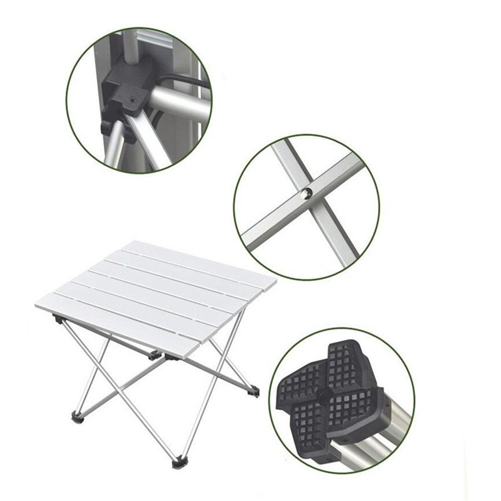 RFVBNM RFVBNM RFVBNM Klappbarer Tisch aus Aluminiumlegierung im Freien,der tragbaren Picknicktisch-Grilltisch antreibt B07CZGD68C   Förderung  e0ee1b