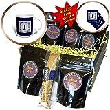 3dRose Kultjers Fun - Delft blue tile church - Coffee Gift Baskets - Coffee Gift Basket (cgb_282734_1)