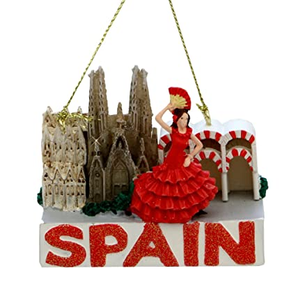 Spain Christmas Ornament Landmarks Glitter Spain Ornaments - Amazon.com: Spain Christmas Ornament Landmarks Glitter Spain