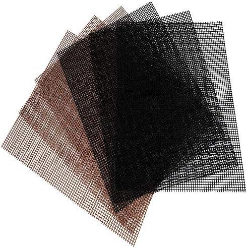 JiNKesI Paquet de 6 Tapis de Maille de Gril de Barbecue/Tapis de Gril de Barbecue antiadhésif/Surface réutilisable antiadhésive résistante à la chaleur-11.7 * 15.6 * 0.02 inches