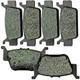 Front and Rear Kevlar Carbon Brake Pads for HONDA TRX 680 FA Fourtrax Rincon 2006-2015