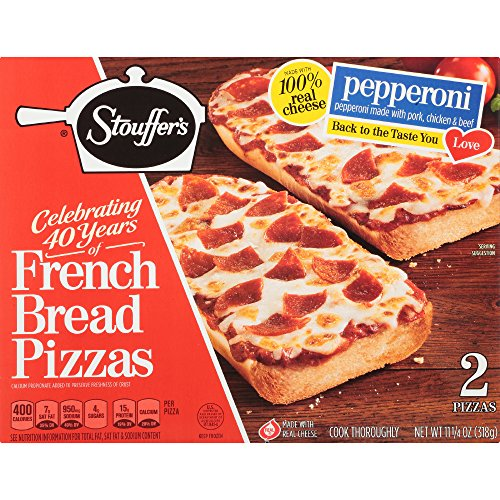 - STOUFFER'S Pepperoni French Bread Pizza 2 ct Box (Frozen)