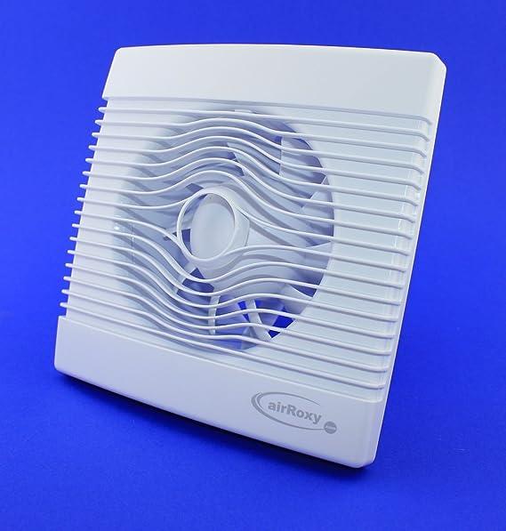 Premium Badventilator mit Feuchtigkeitssensor / Hygrostat und Timer / Nachlauf Badlüfter Lüfter Ventilator Deckenlüfter weiß