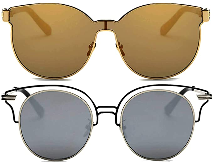 Amazon.com: Aviator Corazón Ronda Integral Square Oversized ...