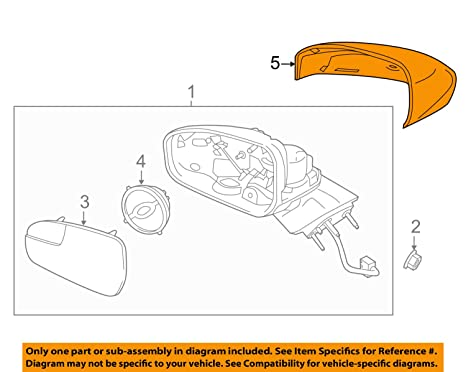 amazon com ford 2013 2015 fusion right passenger side view mirror Outside Rear View Mirror Powered Switch image unavailable